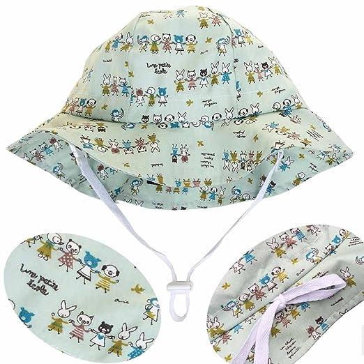 de981b79cc2 Twinklebelle Baby Toddler Kids Adjustable Sun Hat - Cotton 50+  UPF(discontinued by Manufacturer