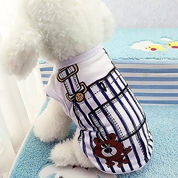 Pet Clothes Shirts Warm Coats and Jackets Boots /& Paw Protectors Dresses,Summer Pet Dog Clothes Puppy Dog Cat Vest Shirt Fake Strap