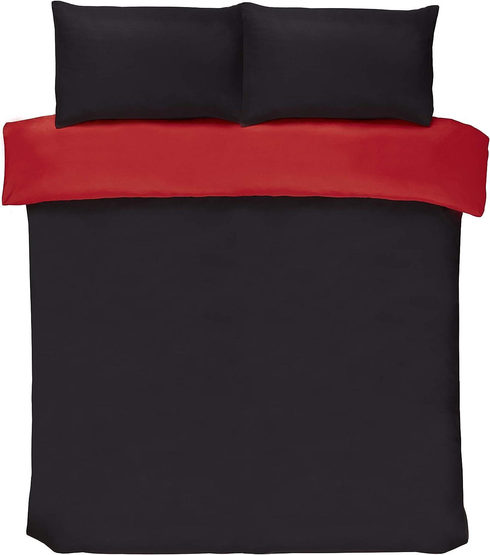 Double Clyde Linens Ombre Stripe Red Duvet Set