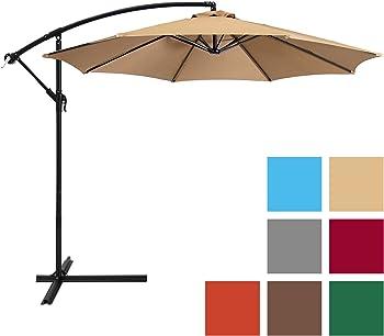 Best Choice 10-Foot Deluxe Patio Offset Umbrella w/ Easy Tilt Adjustment