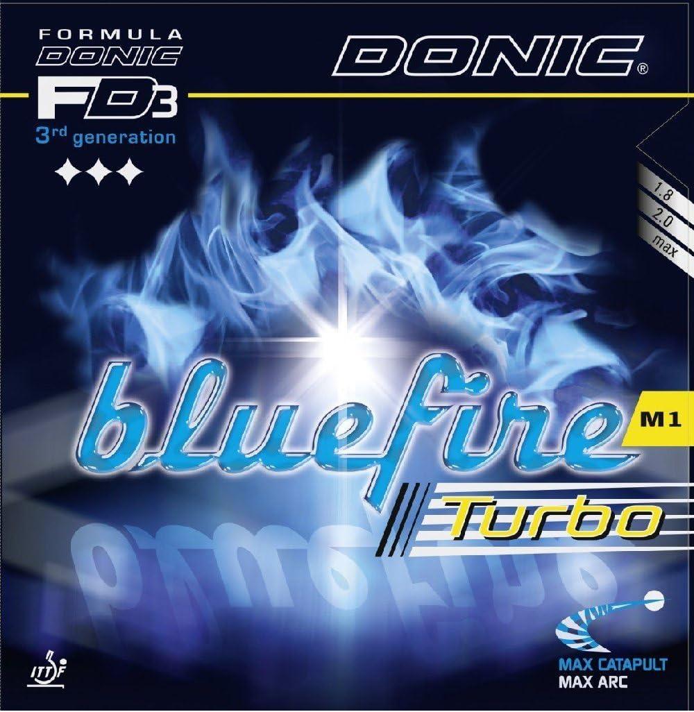 Donic Tenis de mesa goma Bluefire M1Turbo, 2.00mm, color rojo