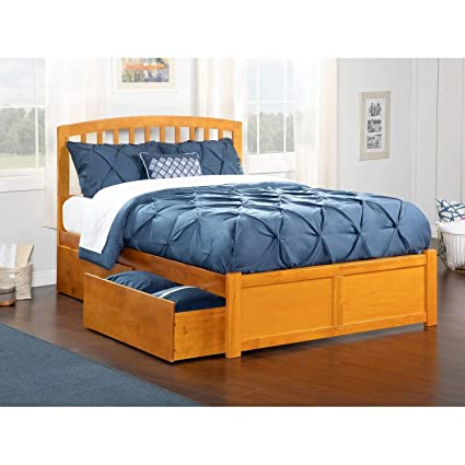 1b84461562413 Image Unavailable. Image not available for. Color  Atlantic Furniture  Richmond Queen Platform Bed with Flat Panel Foot Board and 2 Urban ...