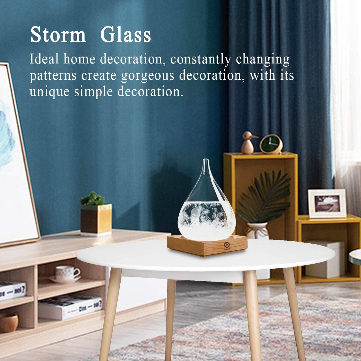 Storm Glass Weather Stations Water Drop Weather Predictor Creative Forecast Nordic style Decorative Weather Glass