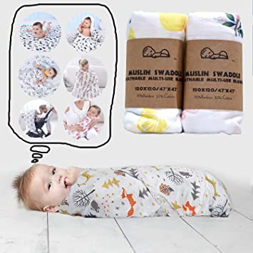SWADDLE Cloth cute LUXURY BAMBOO SWADDLE Blanket 100/% BAMBOO