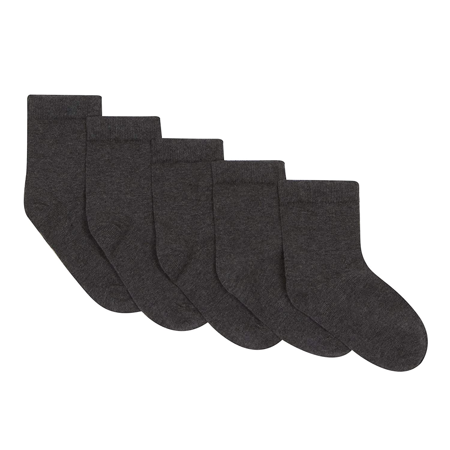 Debenhams Kids 5 Pack Boys' Dark Grey Socks