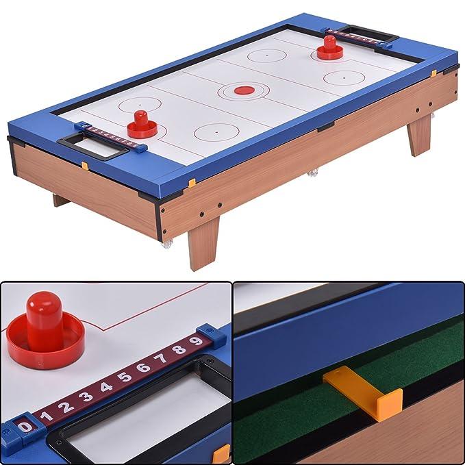 Blitzzauber24 Table Multi-Jeux 4 en 1 Baby-Foot Tennis de Table Hockey et Billard  Gain de Place  Amazon.fr  Jeux et Jouets 65e4d8ccb747
