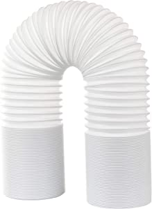 "DearHouse Air Conditioner Exhaust Hose, Portable Exhaust Vent with 5"" Diameter - Length up to 80"", Counterclockwise extendableportable AC Vent Hose for Portable Air Conditioner"