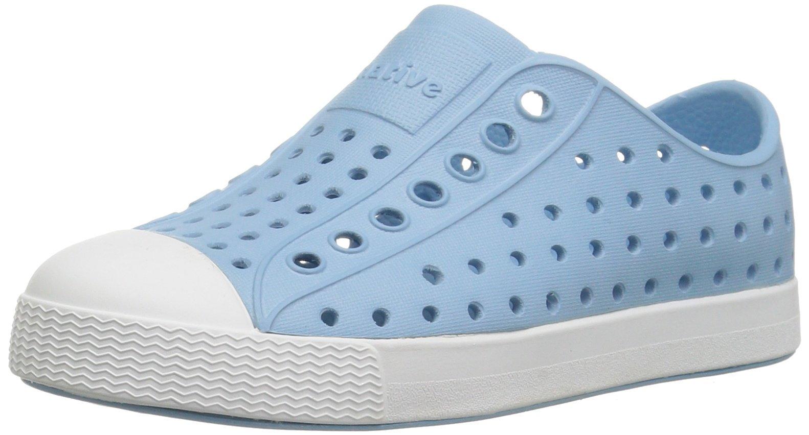 Native Kids Jefferson Water Proof Shoes, Sky Blue/Shell White, 1 Medium US Little Kid