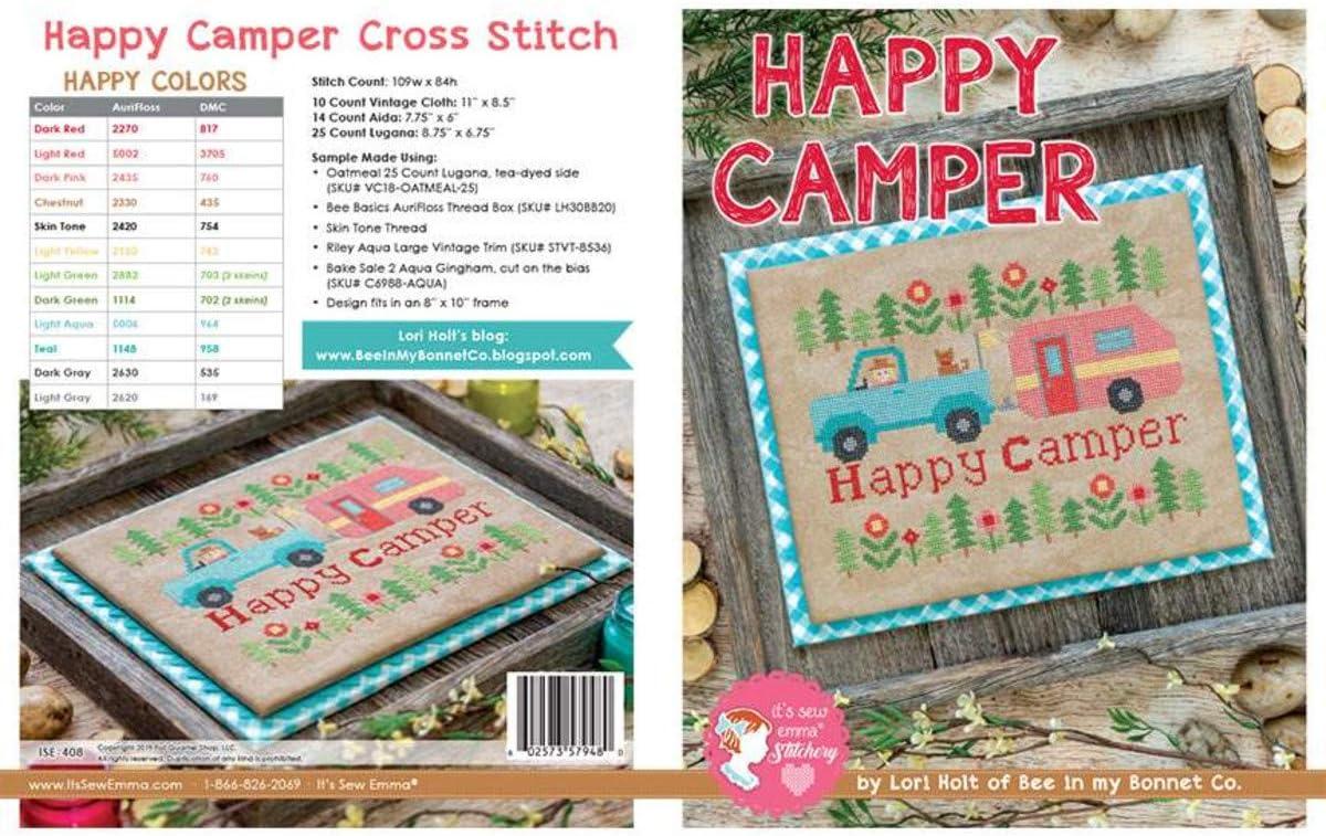 Riley Blake Its Sew Emma Happy Camper Cross Stitch Pattern
