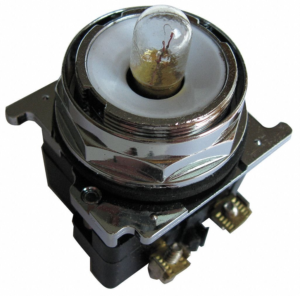 Eaton 10250T181N Indicating Light, 30mm Diameter, Momentary Operation, Incandescent Light, Transformer, 120VAC/VDC Voltage
