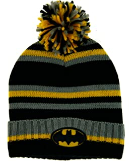 861f89da8 New Era Men's Team Jake Batman Bobble Knit Beanie, Black, One Size ...