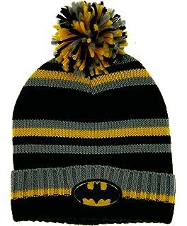 28667ee1bba Mens Batman Knitted Bobble Hat Kids DC Super Hero Winter Warm Wool Cap Gift  Size