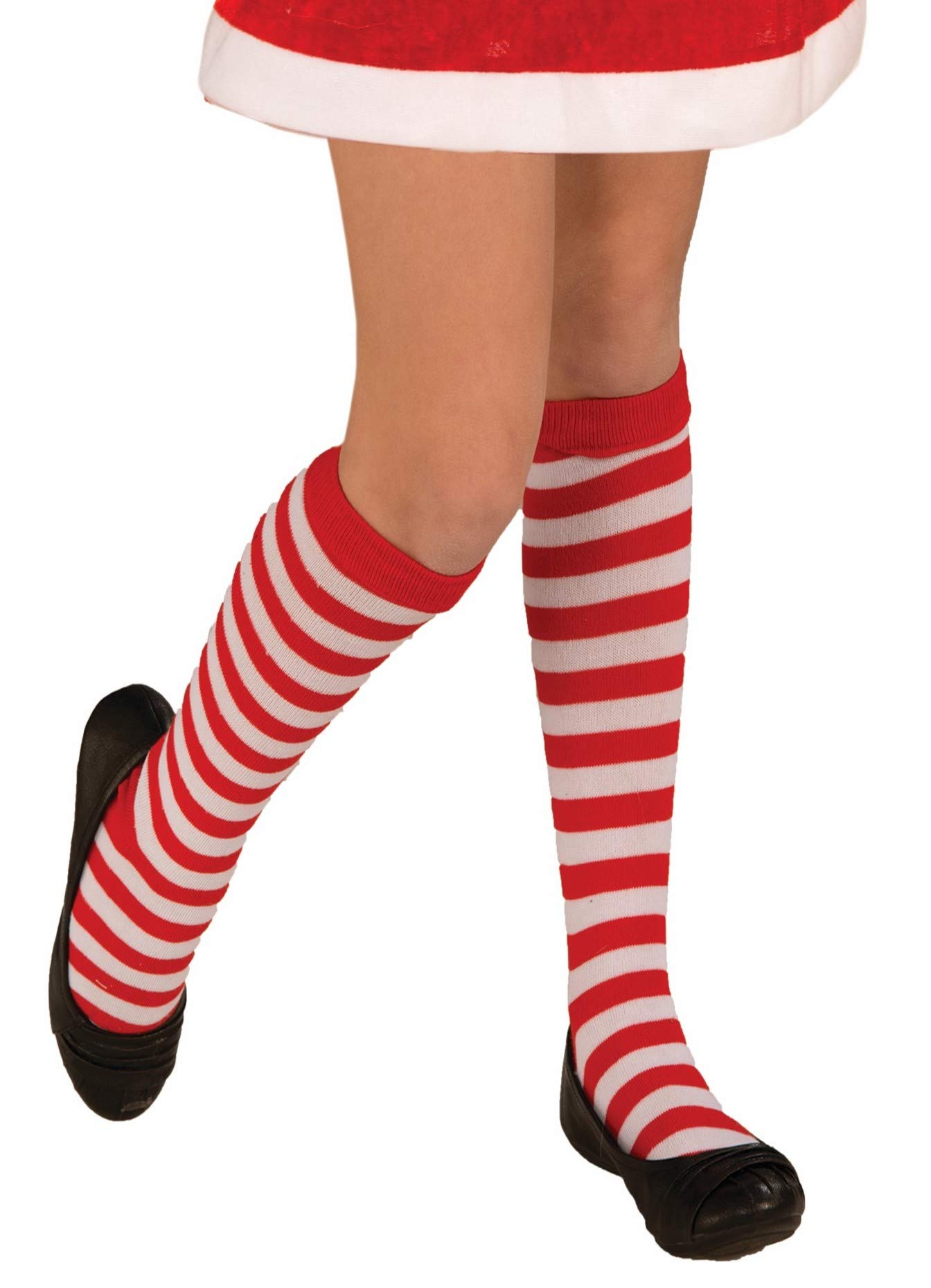 Children's Red and White Striped Socks