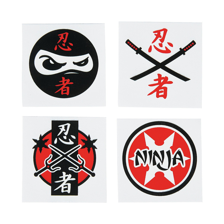 Ninja Warrior Temporary Tattoos - 36 Piece Pack