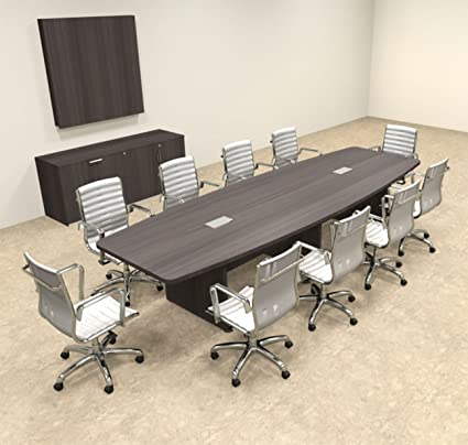 Amazoncom Modern Boat Shapedd Feet Conference Table OFCON - 12 foot conference room table