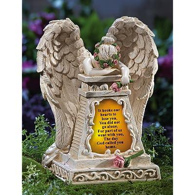 Weeping Angel Solar Memorial Garden Stone : Garden & Outdoor