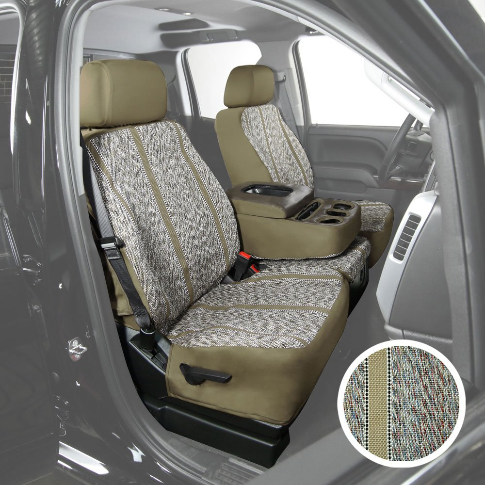 Saddleman S 029929-09 Tan Custom Made Rear Bench with 40-60 Back 3 Headrests and bolsters Seat Covers