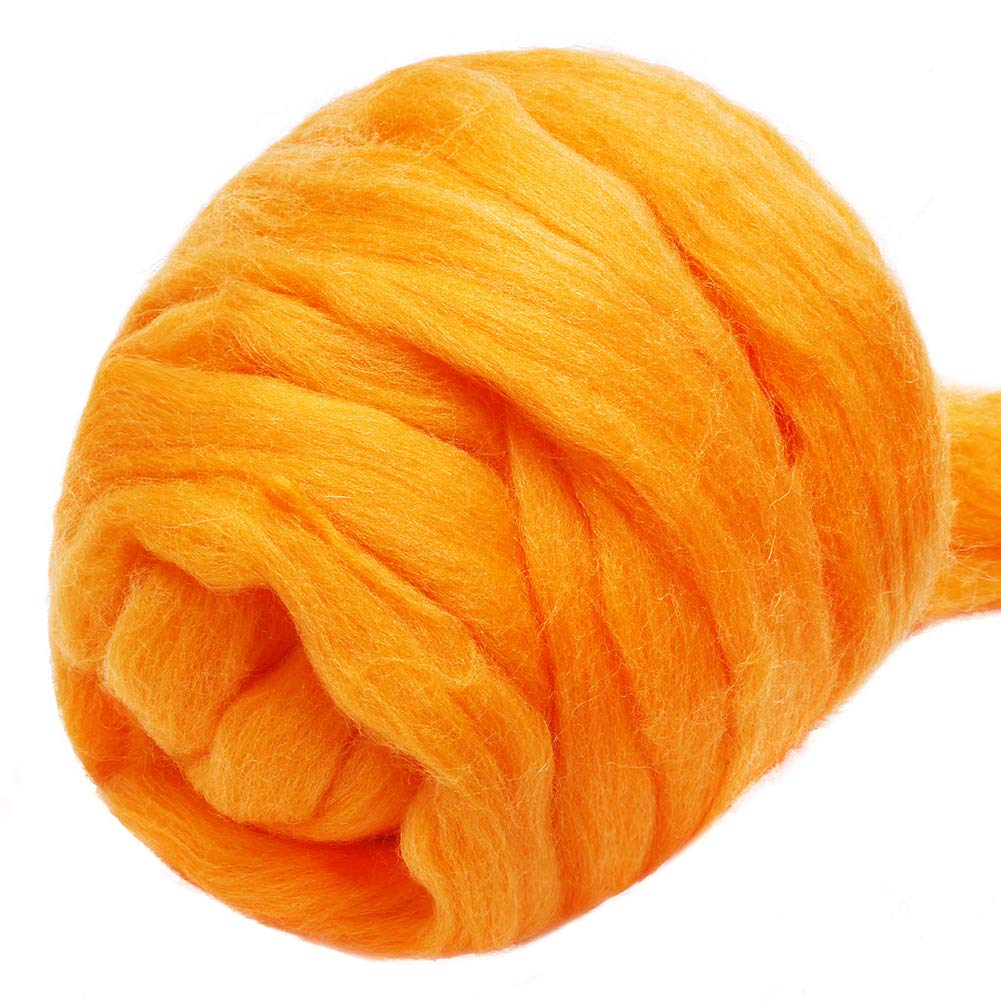 100/% Pure Wool Wool Felting Supplies Chunky Yarn Spinning Wool Roving for Needle Felting Wet Felting DIY Hand Spinning Jupean 3.53oz Wool Roving Yarn Fiber Roving Wool Top
