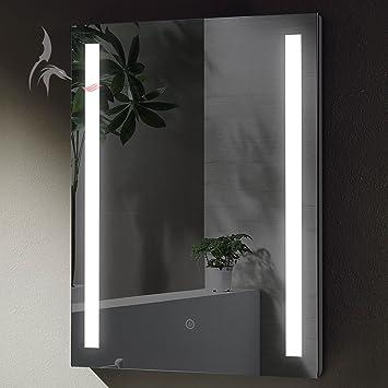 TOP AKTION WSV! Badezimmerspiegel mit LED, Lindau 50x70cm, LED Bad ...