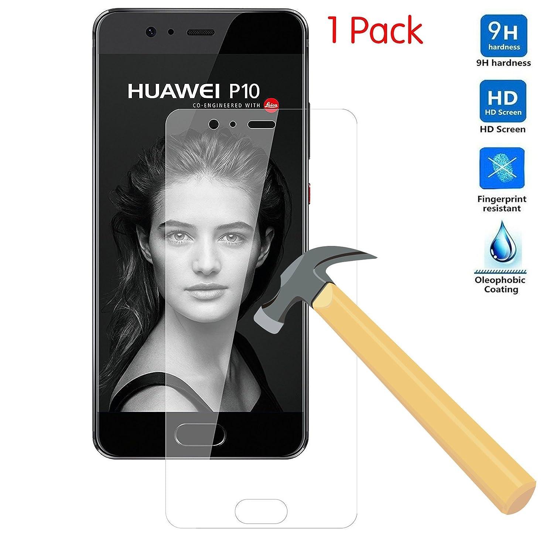 KuGi Huawei P10 Proteggi schermo- L'alta qualità protezione dello schermo di 9H durezza HD chiaro, vetro temperato per Huawei P10 smartphone.( 1 pack)