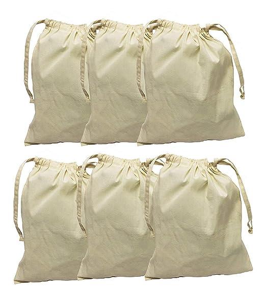 Earthwise algodón orgánico Muselina producir bolsas con ...