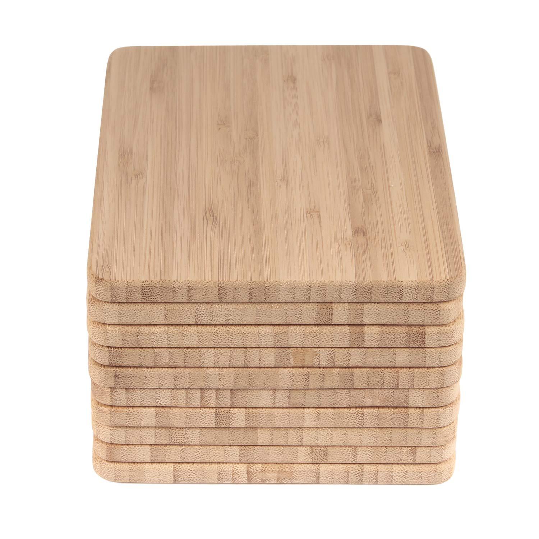 BambooMN Brand - Bulk Wholesale Premium Bamboo Cheese Board - 7.9'' x 5.5'' x 0.4'' - 100 pcs