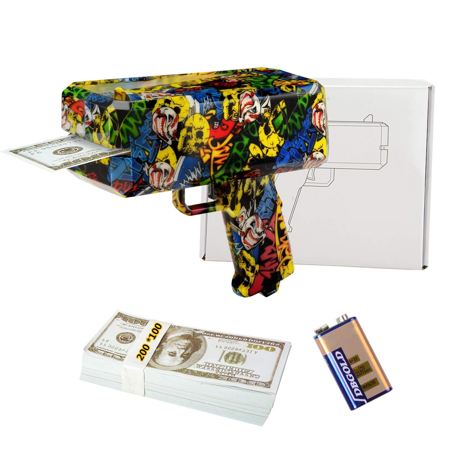 DDGG Make It Rain Money Gun Cash Gun Christmas Gift Cash*200 by DDGG (Image #1)