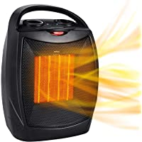 Portable Electric Space Heater, 1500W/750W Ceramic Heater with Thermostat, Heat Up 200 Square Feet in Minutes, Safe and…