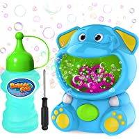 WisToyz Bubble Machine Elephant Bubble Blower Bubble Toys 500+ Bubbles Per Minute, Bubble Machine for Kids Toddler with…