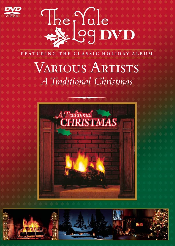 Amazon.com: A Traditional Christmas - The Yule Log DVD: Various ...