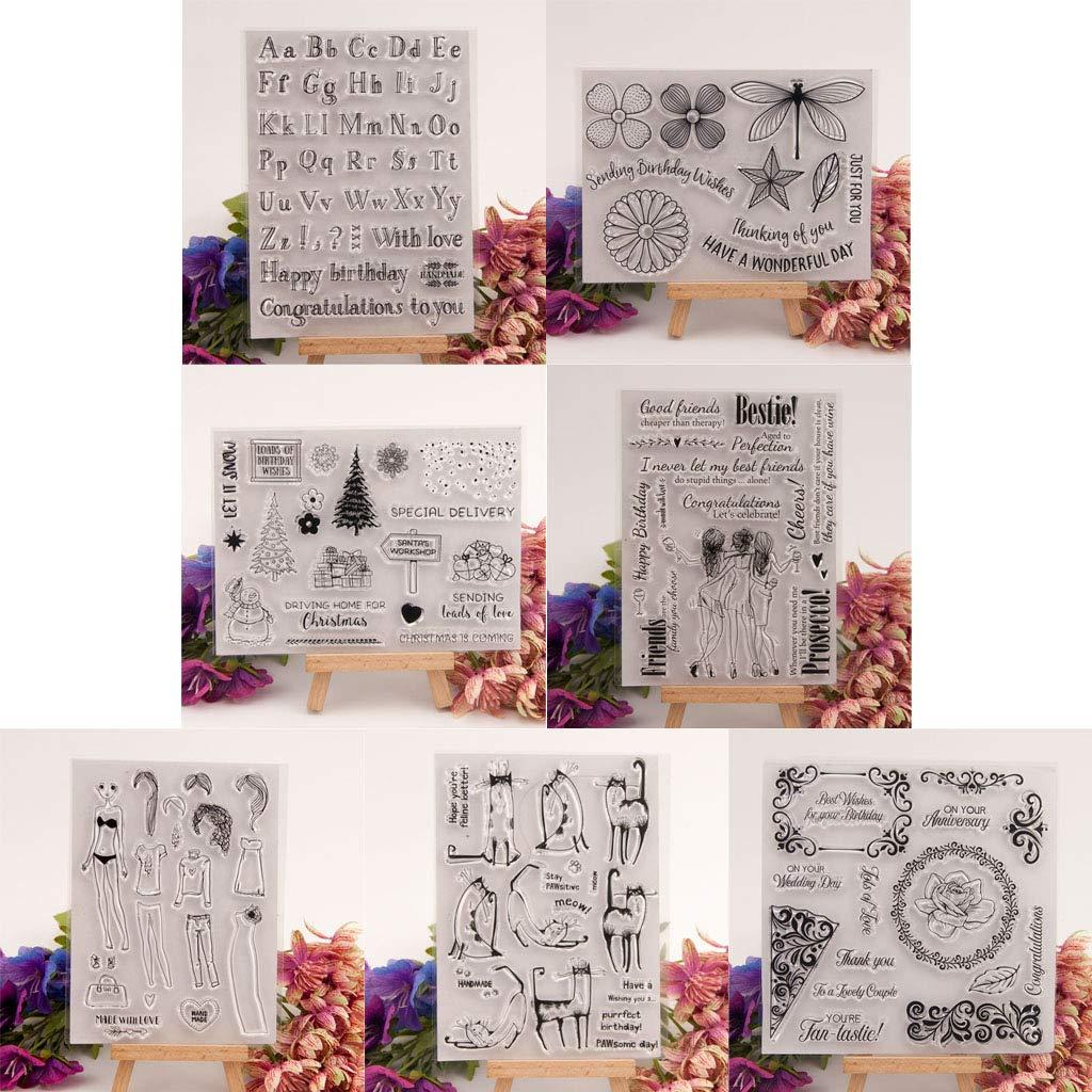Ycncixwd album di ritagli decorazioni artigianali timbro trasparente in silicone con albero di Natale e pupazzo di neve per fai da te