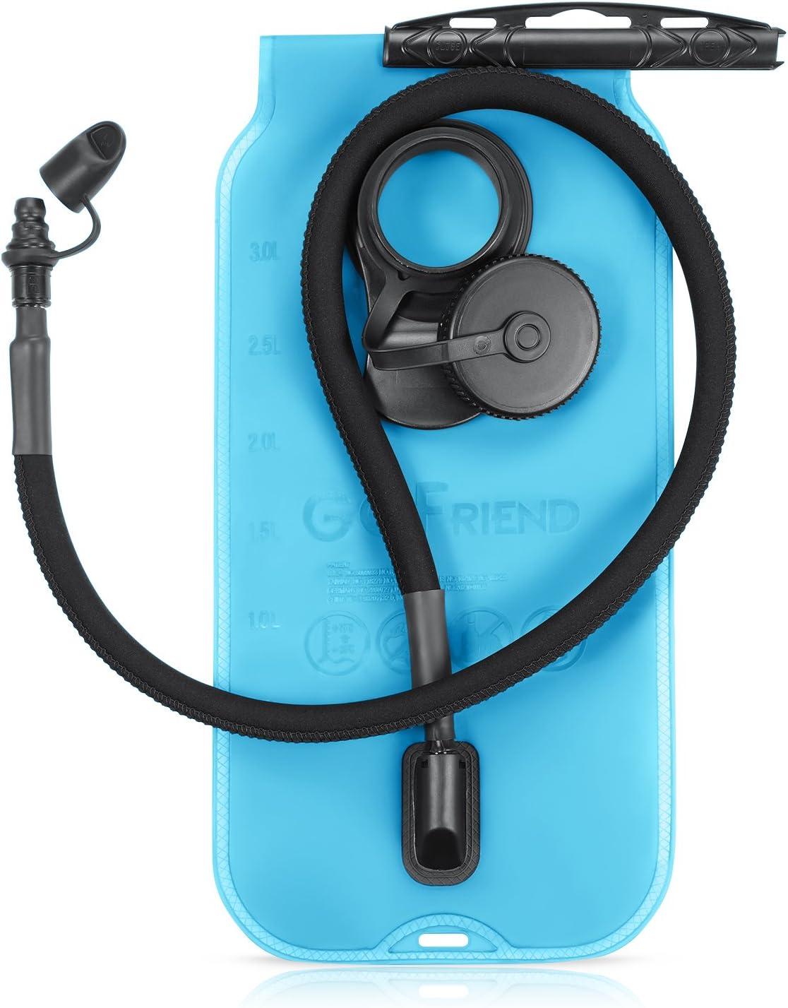 Trinkblase 3L 3 Liter Tragbare Wasserbeutel Wasserblase BPA-frei und FDA-Zertifizierung GoFriend/® Sport Wasser Blasen f/ür den Au/ßenbereich wie Wandern Camping Laufen Radfahren