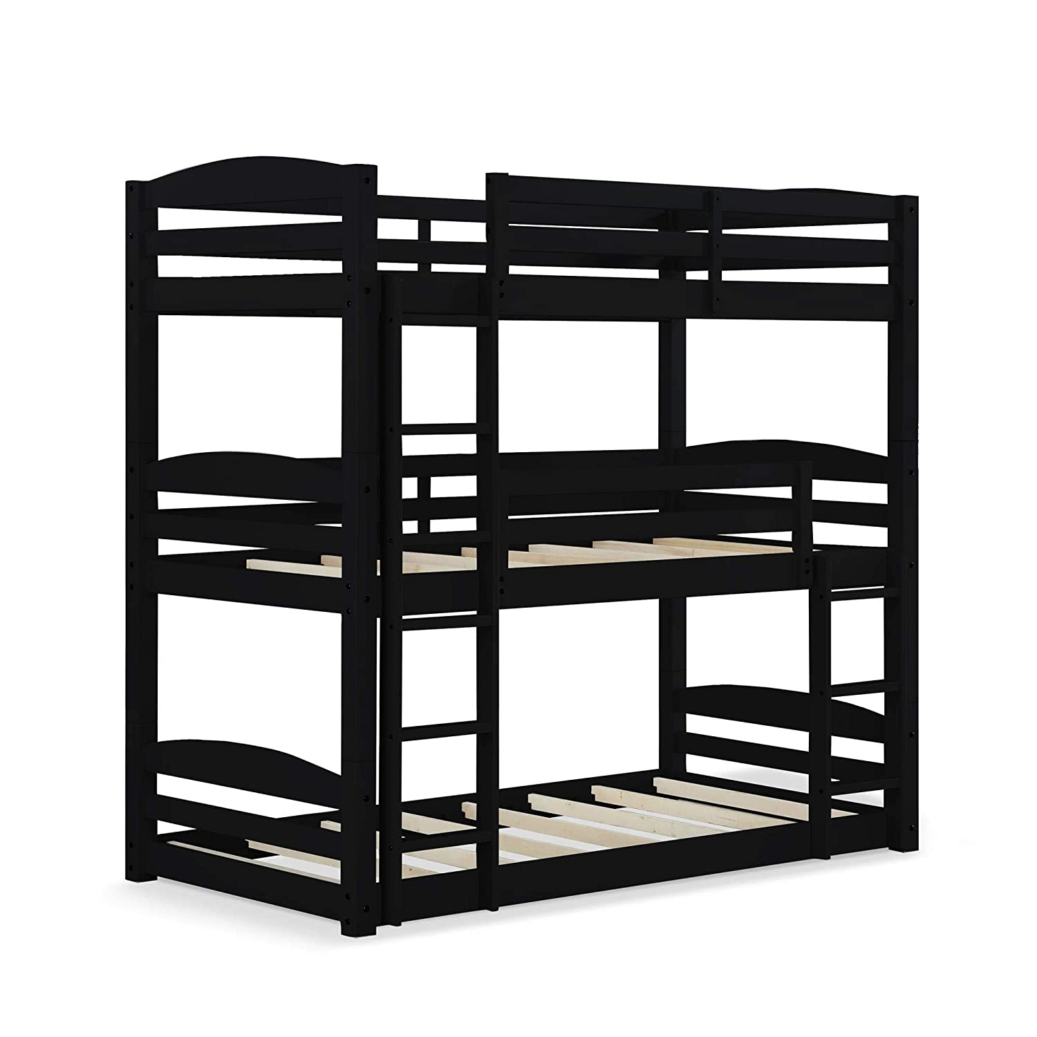 Dorel Living Phoenix Solid Wood Twin Over Twin Floor Bunk Beds With Ladder And Guard Rail Mocha Home Kitchen Furniture Fcteutonia05 De