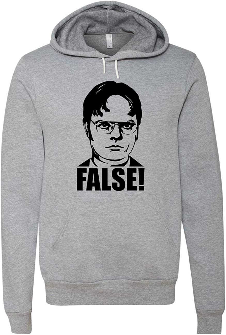 NorthStarTees The Office Dwight Schrute False Unisex Hooded Sweatshirt