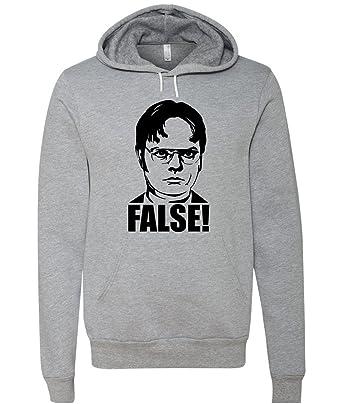 """08de1ee99 The Office """"Dwight Schrute False"""" Unisex Hooded Sweatshirt  (Small, ..."""