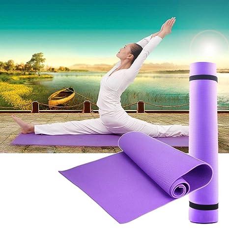 DDGE DMMS 6 mm de Grosor Antideslizante Esterilla de Yoga Ejercicio Fitness pérdida Peso 180 cm x 60 cm x 0,6 cm