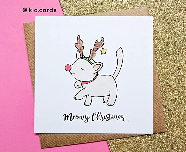 Cat christmas card christmas cats cat lovers christmas gift cat christmas card christmas cats cat lovers christmas gift m4hsunfo