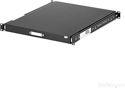StarTech.com SLIDESHELFD Etag/ère darmoire serveur coulissante noire de 55 cm de profondeur