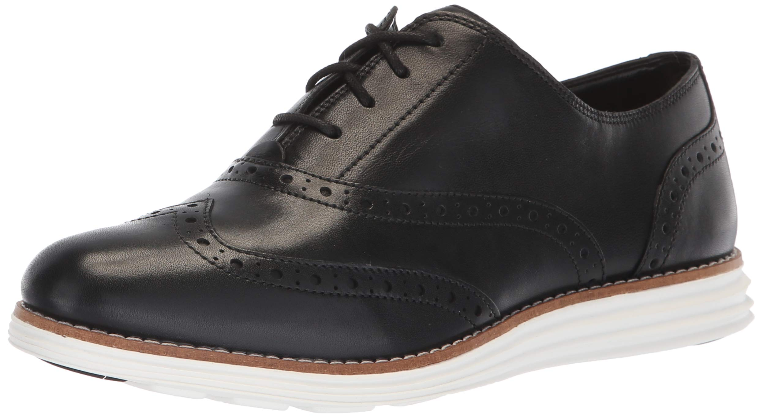 Cole Haan Women's Original Grand Wing Oxford, Black/Optic White 8.5 B US