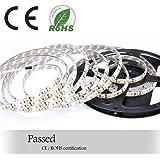 Auralum 5m SMD 2835 600 LED da 12V 72W 7500LM IP65 polvere ermetico impermeabile dust proof Bianco Caldo lampadina LED Band striscia luci tubo flessibile