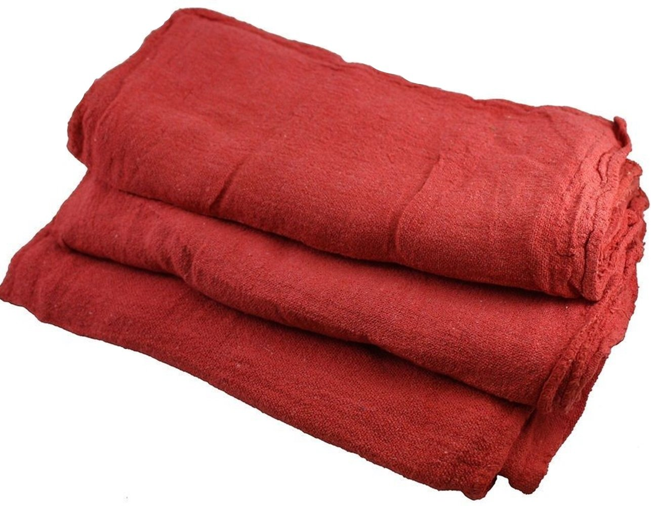 1000PC NEW INDUSTRIAL SHOP RAGS CLEANING TOWELS RED 14''x14'' GA TOWEL PREMIUM TKT-11