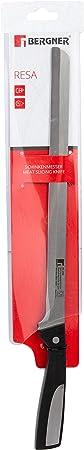 Bergner Resa - Cuchillo jamonero de acero inoxidable, 28 cm