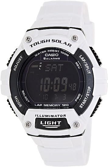 Casio Reloj digital solar W-S220 C-7B Hombres del modelo de ultramar: Amazon.es: Relojes
