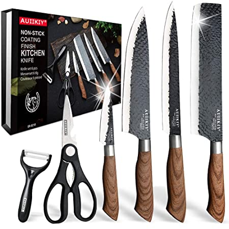 6 Pieces Professional Kitchen Knives Set With Giftbox
