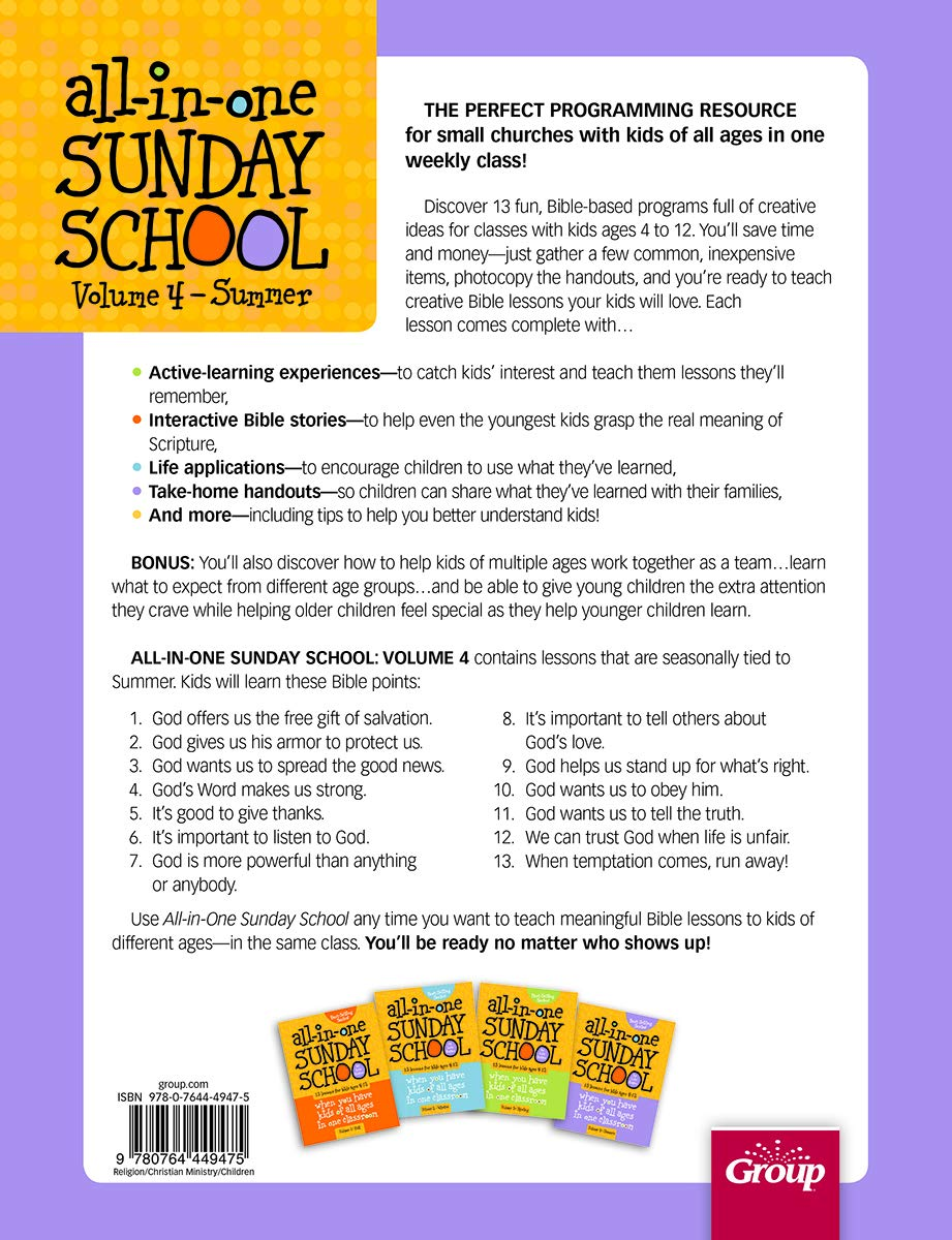 All-in-One Sunday School for Ages 4-12 (Volume 4): When you have