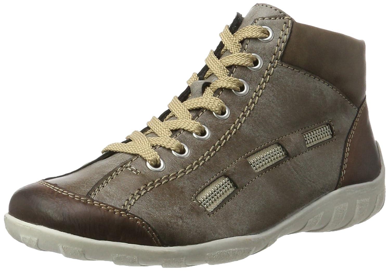 Rieker L6543, Zapatillas Altas para Mujer 36 EU|Marrón (Brandy/Cigar/Fango)