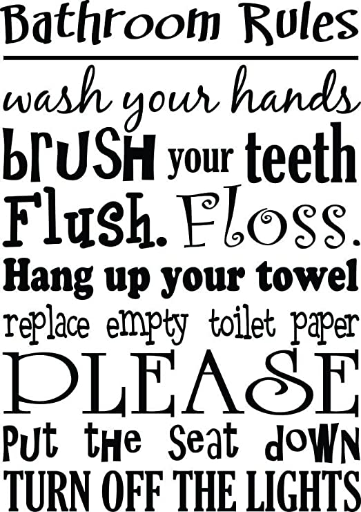 highest quality wall decal stickers Details about  /Brush Your Teeth