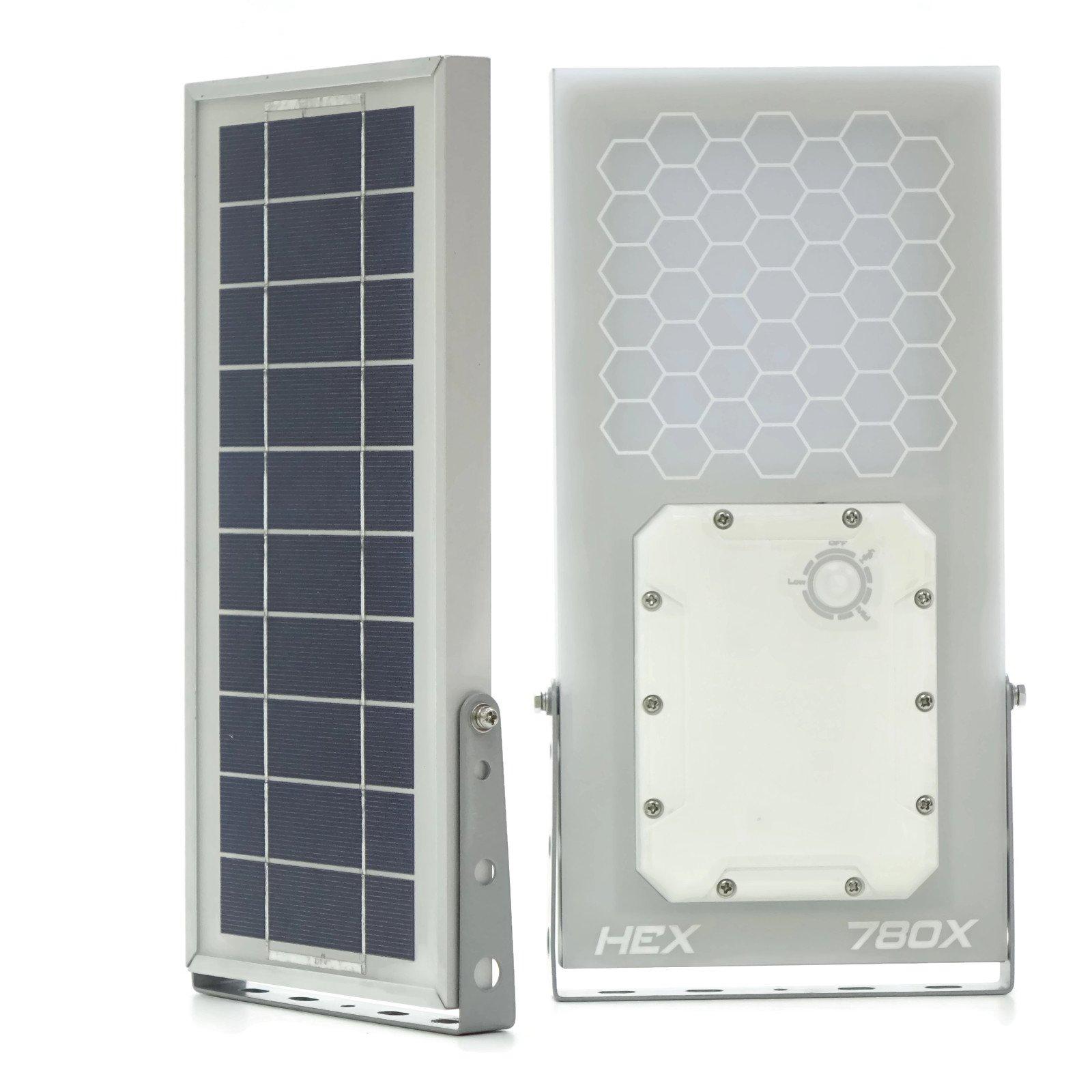 Solar Wall Light // HEX 780X Solar Wall Light (Warm White LED) // 3-Level Power Setting // Solar Light