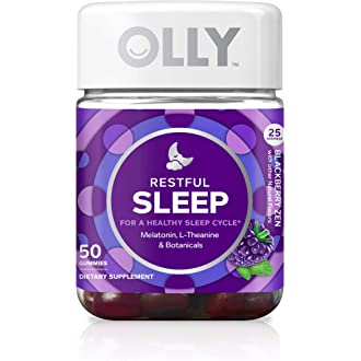 #2 OLLY Restful Sleep Gummy Supplement with Melatonin & L-Theanine Chamomile, Blackberry Zen,