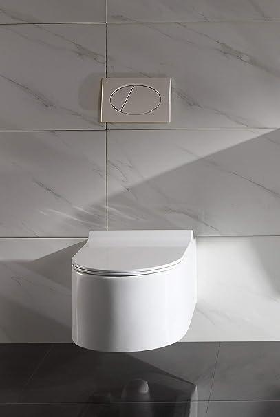 Lux-Aqua STR2044/A N Rim Around The Toilet Bowl Wall-Mounted Toilet Seat Duroplast Plastic and Nano Coating